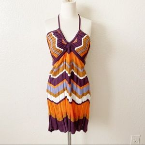 Authentic Missoni chevron print halter dress sz s